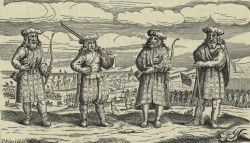 Scottish mercenaries in kilts during the thiry years' war