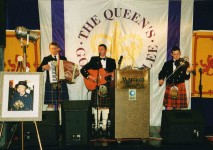 Scotia's Hardy Sons plasying at the Queen's Jubilee Caledonian Ball