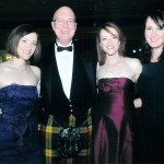 Sandy with daughters Lindsay, Katharine and Vanessa at the Ball in 2011
