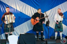 Scotia's Hardy Sons led the ceilidh dancing