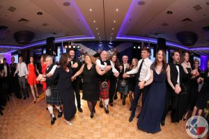 Guests enjoying the ceilidh at the St Andrew's Caledonian Charity Ball in 2016