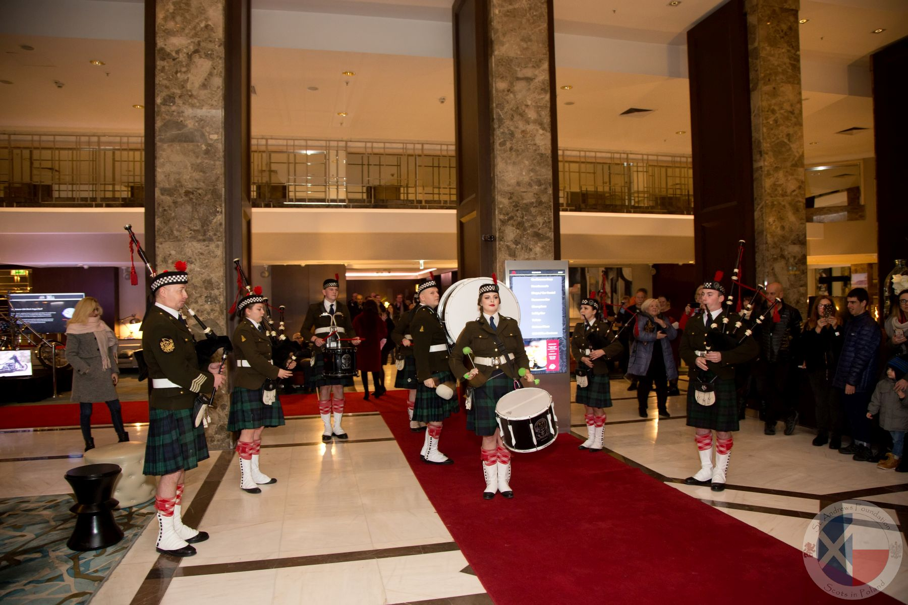 Częstochowa Pipes and Drums welcome guests