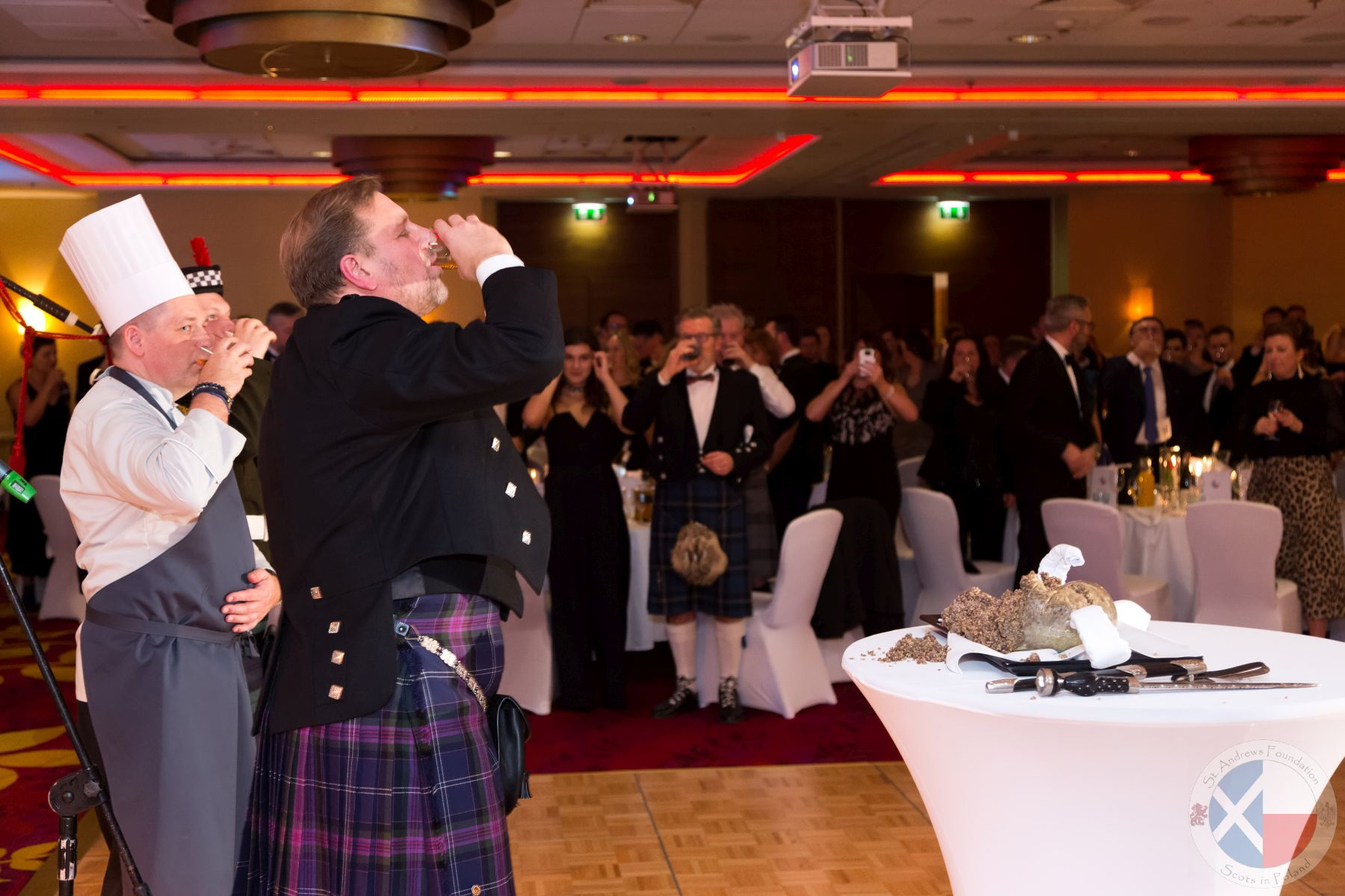 A wee dram to toast the Guest of Honour