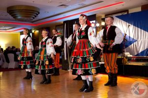 Colourful Mazowsze Folk Dancers