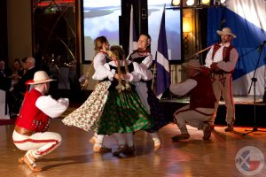 Energetic Polish folk dancing